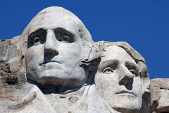 Mount Rushmore. With Washington and Jefferson Royalty Free Stock Photo