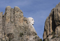 Mount Rushmore. The profile of George Washington at the Mount Rushmore National Monument in the Black Hills of South Dakota Stock Images
