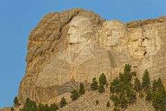 Mount Rushmore as seen from the road stock image