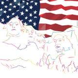 Mount Rushmore Banner Concept Art vector illustration