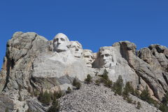 Mount Rushmore on a Blue Bird Day Royalty Free Stock Photography