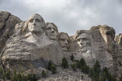 Mount Rushmore. The faces of four United States presidents on Mount Rushmore Stock Image