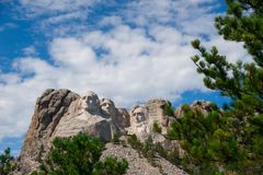 Mount Rushmore is the granite face located in a batholith in the Black Hills in Keystone, South Dakota, United States. In September United States of America stock image