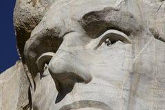 Mount Rushmore Lincoln specificerar arkivbild