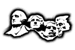 Mount Rushmore Memorial royalty free illustration