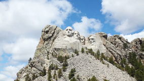 Mount Rushmore monument in South Dakota stock video footage