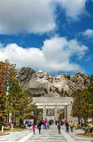 Mount Rushmore monument with tourists near Keystone, SD Royalty Free Stock Photography