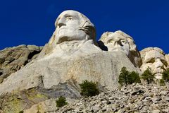 Mount Rushmore monument, Washington, Jefferson, Roosevelt arkivbild