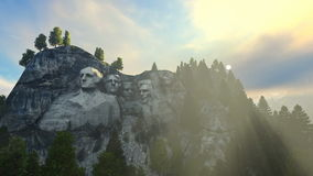Mount Rushmore morning mist stock illustration