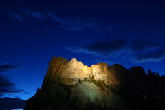 Mount Rushmore National Memorial. Illuminated under the twilight sky - South Dakota Royalty Free Stock Image