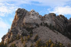 Mount Rushmore. National Memorial in the Black Hills of South Dakota feartures George Washington, Thomas Jefferson, Theodore Teddy Roosevelt and Abe Lincoln stock photo