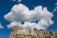 Mount Rushmore National Memorial in Black and White Stock Photography