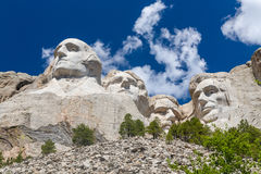 Mount Rushmore National Memorial in Black and White Stock Photo
