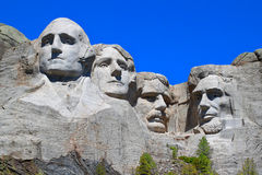 Mount Rushmore National Memorial. Carved into the peaks of the Black Hills in South Dakota Royalty Free Stock Photos