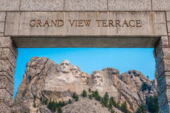 Mount Rushmore National Memorial Grand View Terrace Stock Images