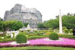 Mount Rushmore National Memorial. This photo was taken in Window of the world scenic spot,Shenzhen city, china.It is architectural miniature landscape.The photo stock image