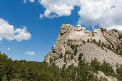 Mount Rushmore National Memorial, showing the full size of the m stock photo