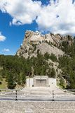Mount Rushmore National Memorial, showing the full size of the m royalty free stock photography