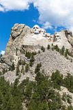 Mount Rushmore National Memorial, showing the mountain and the s stock photos