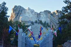 The Mount Rushmore National Memorial in South Dakota Royalty Free Stock Image