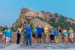 Mount Rushmore National Memorial - Tourists at the Grand View Terrace Royalty Free Stock Photography