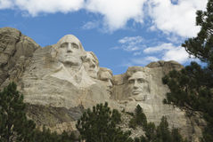 Mount Rushmore National Monument 10. Close view of Mount Rushmore National Monument in the Black Hills of South Dakota Stock Image