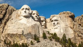 Mount Rushmore Landscape and Blue Sky Stock Image