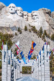 Mount Rushmore National Monument in South Dakota. Summer day wit royalty free stock photos