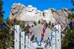Mount Rushmore National Monument in South Dakota. Summer day wit stock image