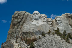 Mount Rushmore National Park. A Wide Shot of Mount Rushmore in the Summer Royalty Free Stock Photos