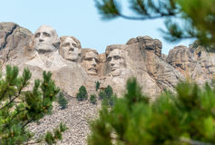Mount Rushmore nationell minnes- skulptur Arkivbilder