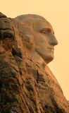 Mount Rushmore nationell minnes- Washington profil på soluppgång royaltyfri bild