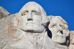 Mount Rushmore nationell minnesmärke med George Washington och Thom Arkivbild