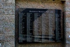 Mount Rushmore nationella minnes- Rushmore arbetare royaltyfria bilder