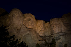 Mount Rushmore at night Stock Photography