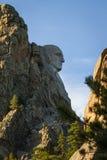 Mount Rushmore profile. Profile view of George Washington at Mount Rushmore Stock Photo
