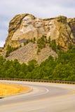 Mount Rushmore. Road to Mount Rushmore, South Dakota stock images