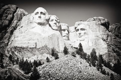 Mount Rushmore Sideview stock images
