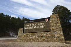 Mount Rushmore sign. stock photo