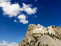 Mount Rushmore and sky. Royalty Free Stock Photos