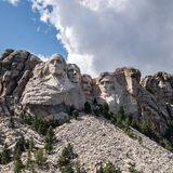 Mount Rushmore in South Dakota stock photography