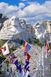 Mount Rushmore With  State Flags Stock Image