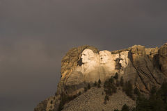 Mount Rushmore and Storm. A storm approaching Mount Rushmore Royalty Free Stock Photo