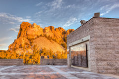 Mount Rushmore Sunrise. Sunrise at Mount Rushmore National Monument in the Black Hills of South Dakota, USA. This is an HDR image stock image