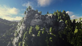 Mount Rushmore, timelapse clouds, camera fly stock video