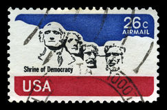 Mount Rushmore US Airmail Postage Stamp Royalty Free Stock Photos