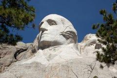 Mount Rushmore. A view of George Washington at Mount Rushmore Royalty Free Stock Photo