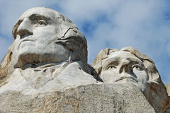 Mount Rushmore Washington and Jefferson Royalty Free Stock Photos