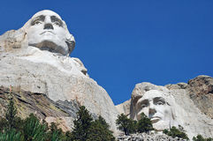 Mount Rushmore Washington och Lincoln Arkivbild