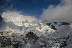 Mount Sagro and the quarries royalty free stock photography